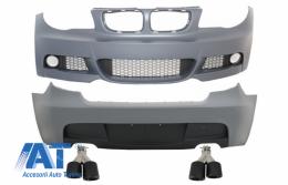 Pachet Exterior Complet compatibil cu BMW Seria 1 E87 (2004-2011) M-Technik Design cu Tobe Ornamente Carbon - COCBBME87MTDO024