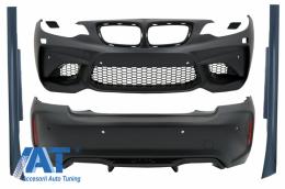 Pachet Exterior Complet compatibil cu BMW Seria 2 F22 F23 Coupe Cabrio (2014-2017) M2 Design - CBBMF22M2