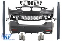 Pachet Exterior Complet compatibil cu BMW Seria 3 F30 (2011-2019) EVO II M3 M-Power Design - COCBBMF30EVOTYC