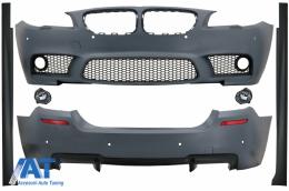 Pachet Exterior Complet compatibil cu BMW Seria 5 F10 (2010-2014) M5 Design - CBBMF10M5FL