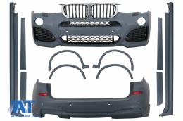 Pachet Exterior Complet compatibil cu BMW X3 F25 LCI (2014-2017) M Tehnik Design - CBBMF25MT