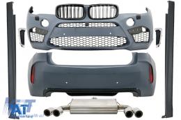 Pachet Exterior Complet compatibil cu BMW X6 F16 (2015-up) X6M Design - CBBMF16X6M