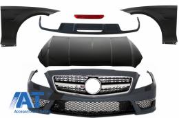Pachet Exterior Complet compatibil cu Mercedes CLS W218 C218 Sport Line (2011-2018) CLS63 Design - CBMBW218AMG