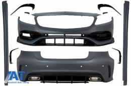 Pachet Exterior Complet compatibil cu Mercedes A-Class W176 (2012-2018) Facelift A45 Design - CBMBW176AMG