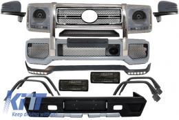 Pachet Exterior Complet compatibil cu MERCEDES W463 G-Class (1989-up) G65 G63 AMG B Design Negru - COCBMBW463AMGLB