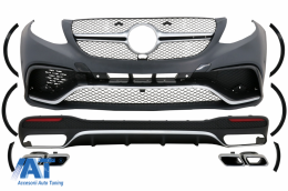 Pachet Exterior Complet compatibil cu Mercedes GLE W166 (2015+) - CBMBGLEW166BCC