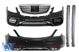 Pachet Exterior Complet compatibil cu MERCEDES S-Class W222 Facelift (2013-06.2017) S63 Design - COCBMBW222AMGS63FFG