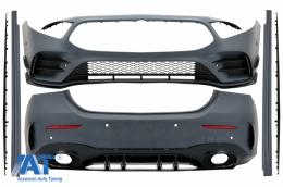 Pachet Exterior Complet compatibil cu Mercedes A-Class V177 4 Usi Sedan (2018-Up) A35 Design - CBMBW177A354D