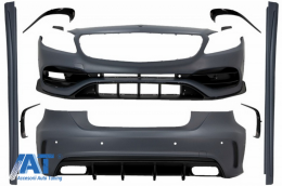 Pachet Exterior Complet compatibil cu Mercedes A-Class W176 (2012-2018) Facelift A45 Design - CBMBW176AMGBT