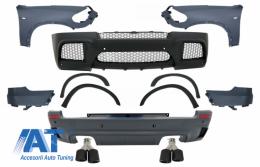 Pachet Exterior Complet cu Aripi Laterale Fata si Tobe Ornamente Sistem de evacuare Carbon Fiber Finisaj Mat compatibil cu BMW X5 E70 (2007-2013) X5M M Design - COCBBME70MFFGJET24