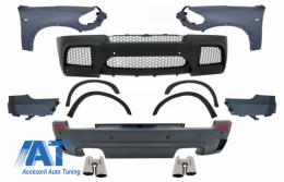 Pachet Exterior Complet cu Aripi Laterale Fata si Tobe Ornamente Sistem de evacuare compatibil cu BMW X5 E70 (2007-2013) X5M M Design - COCBBME70MFFTYS