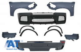 Pachet Exterior Complet cu Aripi Laterale Fata compatibil cu BMW X5 E70 (2007-2013) X5M M Design - COCBBME70MFF