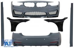 Pachet Exterior Complet cu Aripi Laterale Negre compatibil cu BMW Seria 4 F32 F33 Coupe Cabrio (2013-02.2017) M4 Design - COCBBMF32M4DOFFB