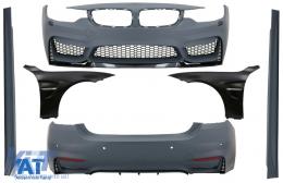Pachet Exterior Complet cu Aripi Laterale compatibil cu BMW Seria 4 F32 F33 Coupe Cabrio (2013-02.2017) M4 Design - COCBBMF32M4DOFF