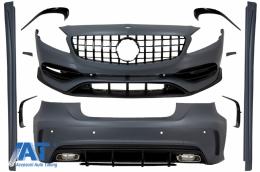 Pachet Exterior Complet cu Grila Neagra compatibil cu MERCEDES A-Class W176 (2012-2018) Facelift A45 Design - COCBMBW176AMGGTRBCN