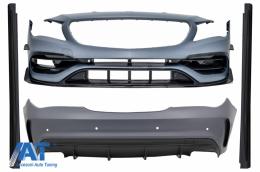Pachet Exterior Complet cu Mercedes CLA C117 W117 (2013-2018) Facelift CLA45 Design - CBMBW117AMGBT