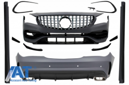Pachet Exterior Complet cu Mercedes CLA W117 C117 (2013-2018) Facelift CLA45 Design si Grila centrala - COCBMBW117AMGGTRCN