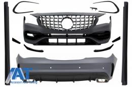 Pachet Exterior Complet cu Mercedes W117 CLA (2013-2018) Facelift CLA45 Design si Grila centrala - COCBMBW117AMGGTR