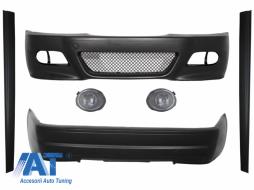 Pachet Exterior Complet cu Proiectoare Ceata Clear/Chrome compatibil cu BMW E46 Coupe/Cabrio 1998-2004 M3 CSL Design - COFBBME46M3WFCSL