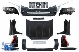 Pachet Exterior Complet Kit Conversie Facelift 2018+ look compatibil cu TOYOTA Land Cruiser Prado J150 2010-2018 - COCBTOPFJ150VXTL