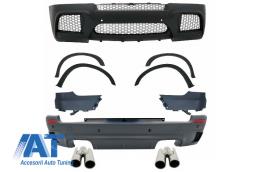 Pachet Exterior Complet M-Design cu Ornamente Evacuare ACS Design compatibil cu BMW X5 E70 (2007-2013) - COCBBME70ME174
