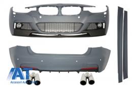 Pachet Exterior Complet M-Performance BMW F30 2011-up cu Ornamente pentru sistemul de evacuare - COCBBMF30MP