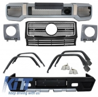 Pachet Exterior Complet + Ornamente Evacuare Mercedes W463 G-Class (1989-up) G65 AMG Design  - COCBMBW463FAMGE