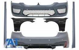 Pachet Exterior cu Aripi Laterale Chrome compatibil cu BMW Seria 5 G30 (2017-up) M5 Design - COCBBMG30M5WODFF