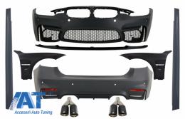 Pachet Exterior cu Aripi Laterale compatibil cu BMW F30 (2011-2019) EVO II M3 CS Style Fara Proiectoare - COCBBMF30EVOWOF75FF