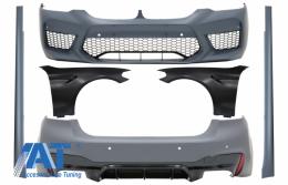 Pachet Exterior cu Aripi Laterale Negre compatibil cu BMW Seria 5 G30 (2017-up) M5 Design - COCBBMG30M5WODFFB