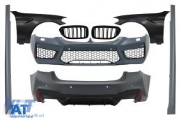 Pachet Exterior cu Aripi Laterale Negru si Grile Centrale Negru Lucios compatibil cu BMW Seria 5 G30 (2017-up) M5 Design - COCBBMG30M5FFBFG