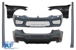 Pachet Exterior cu Aripi Laterale Negru compatibil cu BMW Seria 5 G30 (2017-up) M5 Design - COCBBMG30M5FFB