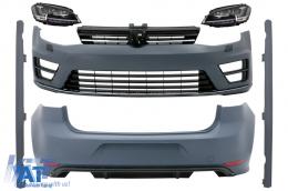 Pachet Exterior cu Faruri LED Semnal Dinamic compatibil cu VW Golf 7 VII (11/2012-07/2017) R Design - COCBVWG7R20FW