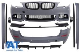 Pachet Exterior cu Grile Centrale Negru Lucios BMW F11 Seria 5 Touring (2010-2013) M-Performance Look - COCBBMF11MP