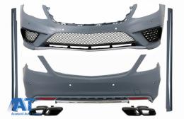 Pachet Exterior cu Ornamente tobe Negru compatibil cu Mercedes S-Class W222 (2013-06.2017) S63 Design