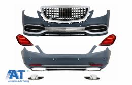 Pachet Exterior cu Stopuri Full LED Semnalizare Dinamica compatibil cu Mercedes S-Class W222 (2013-Up) S63 M-Design - COCBMBW222MBS63TLFL