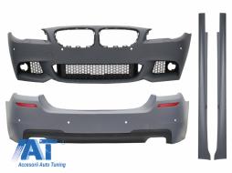 Pachet Exterior + Difuzor Evacuare Dubla BMW F10 Seria 5 (2011-2014) M-Technik Design - CBBMF10MTD
