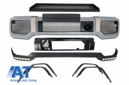 Pachet Exterior Extensie Bara LED DRL compatibil cu MERCEDES Benz G-Class W463 1989-2017 G65 A-Design - COFBMBW463AMGFBS