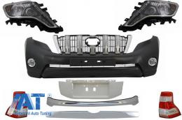 Pachet exterior Kit Conversie Complet Facelift 2014+ look compatibil cu TOYOTA Land Cruiser Prado J150 2009-2013 - CBTOPFJ150