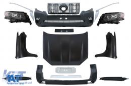 Pachet exterior Kit Conversie Complet Facelift 2018+ look compatibil cu TOYOTA Land Cruiser Prado J150 2010-2018 - CBTOPFJ150VX