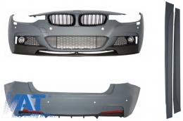 Pachet Exterior M-Performance BMW (F30) 2011-2014 Cu Grile Centrale - COCBBMF30MPDPB