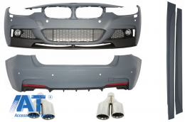 Pachet Exterior M-Performance BMW F30 (2011-2014) cu Ornamente Evacuare M-Power Design - COCBBMF30MPTY