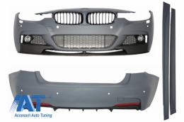 Pachet Exterior M-Performance BMW F30 2011-up cu Grile Centrale Negru Lucios - COCBBMF30MPG