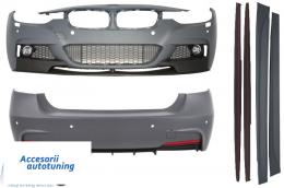 Pachet Exterior M-Performance BMW F30 2011-up Cu Ornament Evacuare Stanga - COCBBMF30MPSOE