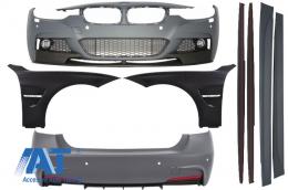 Pachet Exterior M-Performance BMW F30 2011-up cu Aripi Laterale