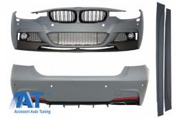 Pachet Exterior M-Performance cu Grile Centrale Piano Black M Design BMW F30 2011-up - COCBBMF30MPDODPB