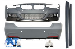 Pachet Exterior M-Performance cu Ornamente Evacuare BMW F30 2011-up - COCBBMF30MPDOAS