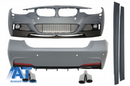Pachet Exterior M-Performance cu Ornamente Evacuare negre BMW F30 2011-up - COCBBMF30MPDOAB