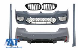 Pachet Exterior si Grile Centrale compatibil cu BMW Seria 5 G30 (2017-up) M5 Design - COCBBMG30M5WODFG