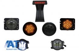 Pachet Lampi Semnalizare si Proiectoare LED  compatibil cu JEEP Wrangler JK (2007-2016) - COSLJEWJK